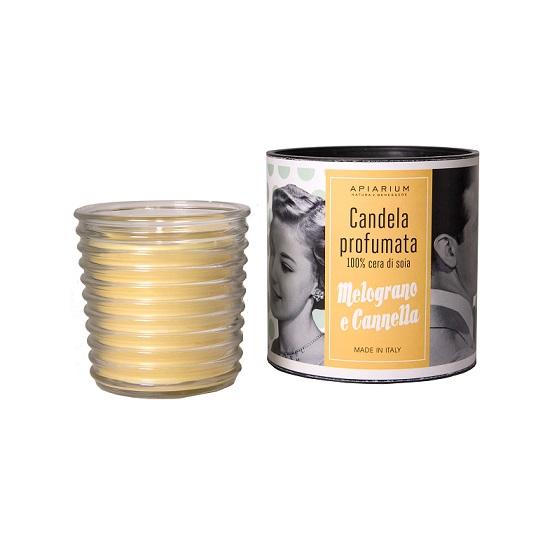 candela cera di soia melograno e cannella